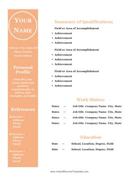 Print Free Resume Templates Microsoft Works Word Processor